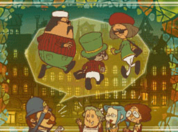 Professor Layton Unwound Future 47 Puzzle Answer Shady Trio Solution screenshot