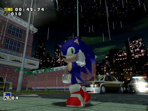 Sonic Adventure screenshot. Unlock stuff YEAH!!!