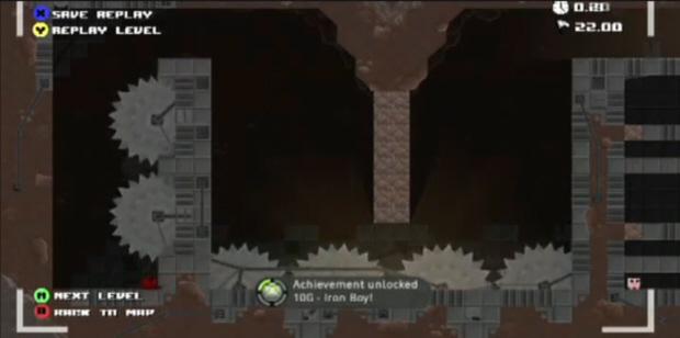 Super Meat Boy Achievements guide Iron Boy screenshot