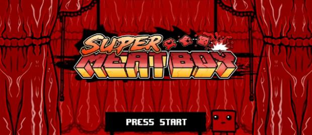 Super Meat Boy walkthrough title screen wallpaper