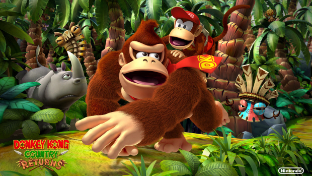Donkey Kong Country Returns box art wallpaper