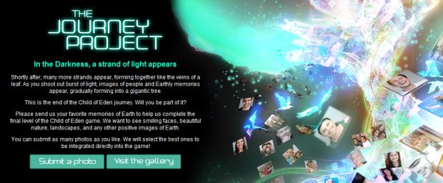 Child of Eden Journey Project memories screenshot (Xbox 360 Kinect)