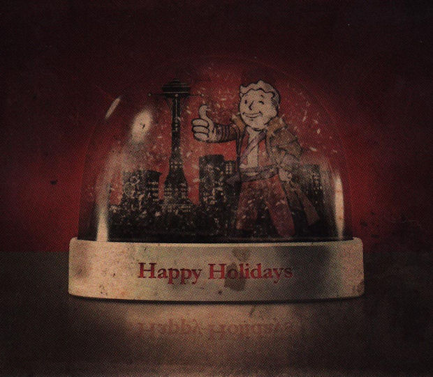 Fallout: New Vegas Happy Holidays Christmas card