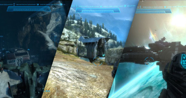 Halo Reach Noble Map Pack walkthrough side by side each level screenshot