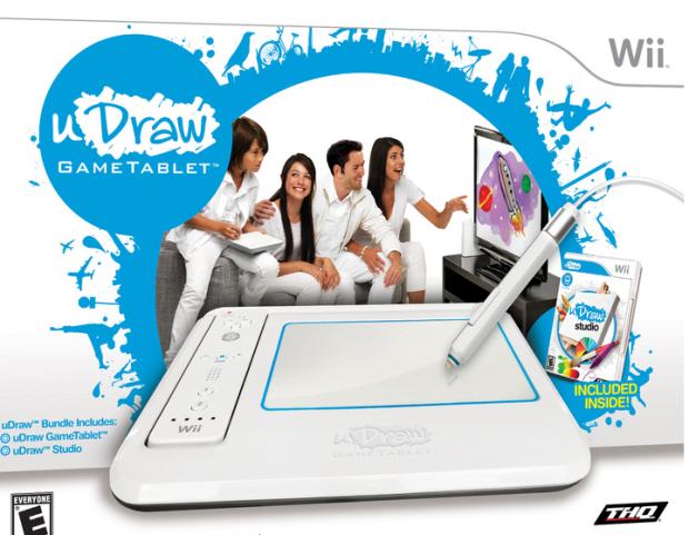 uDraw game tablet box artwork (Wii)