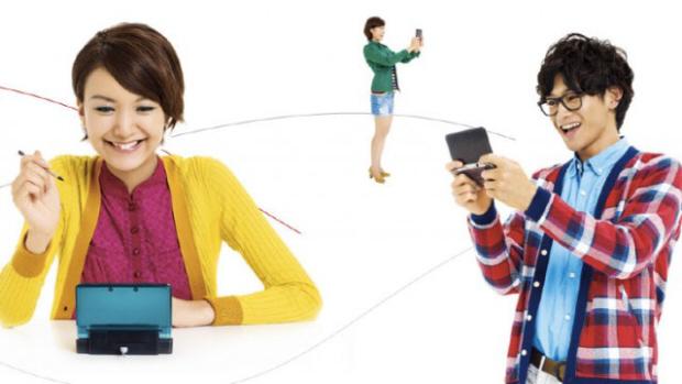 Kids play Nintendo 3DS