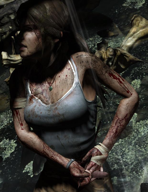 Lara Croft 2011 wallpaper - detailed close-up