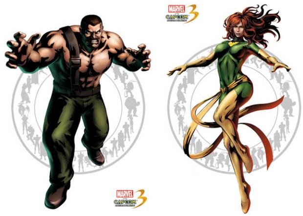 Marvel vs Capcom 3 Haggar and Phoenix artwork