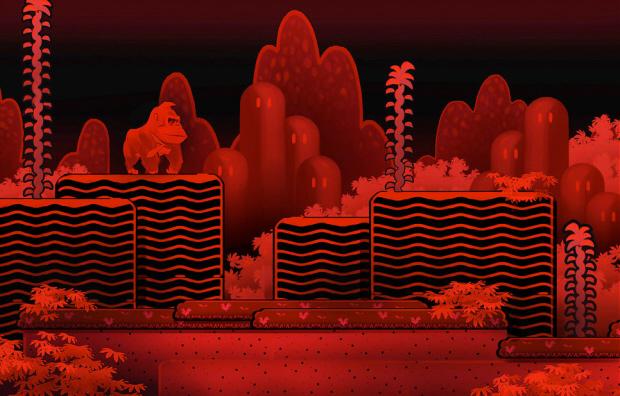 Virtual Boy Donkey Kong Country Returns artwork