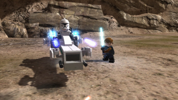 Vehicle gameplay in Lego Star Wars 3