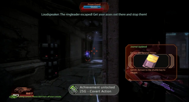 The Covert Action Achievement in Mass Effect 2: Arrival downloadable content