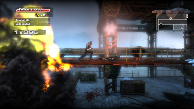 Rush 'N Attack: Ex Patriot gameplay screenshot of Xbox Live Arcade/PSN sequel