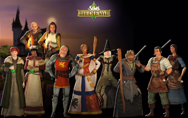 Sims Medieval wallpaper - Cast