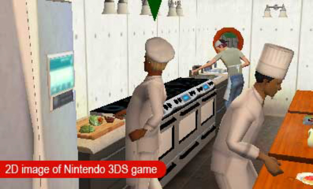 The 3DS offers new perspectives for The Sims 3. Chef time!