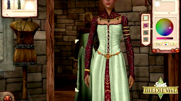 The Sims Medieval character creation screenshot (PC, Mac)