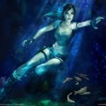 Tomb Raider Legend wallpaper - Lara Croft swimming and underwater