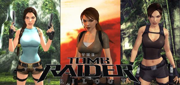 Tomb Raider Trilogy wallpaper by teenraider. Lara Croft artwork from Legend, Anniversary and Underworld