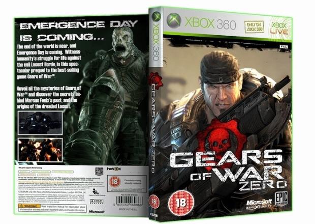 Gears of War Zero fake box artwork by lord arcanus
