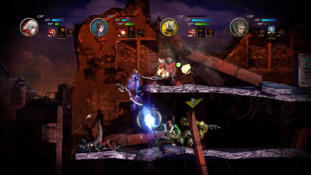 Gameplay screenshot of the downloadable Moon Diver for PSN (and soon XBLA)