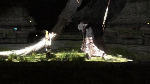 The Last Guardian screenshot of Trico feet!