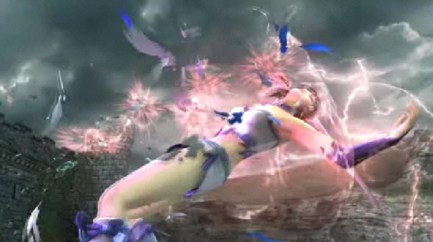 Soul Calibur IV had clothes breakage with girls and guys. Soul Calibur V might not