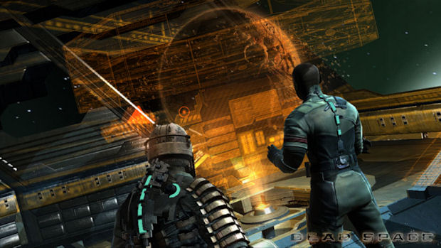 Isaac explores dead space in Dead Space 1