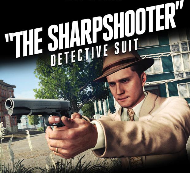 LA Noire Outfits include the hidden The Sharpshooter Detective Suit Artwork