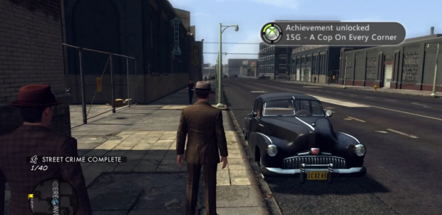 Earn the A Cop On Every Corner Achievement by completing a single Street Crime in L.A. Noire
