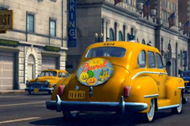 A 1940s era taxi cab in LA Noire