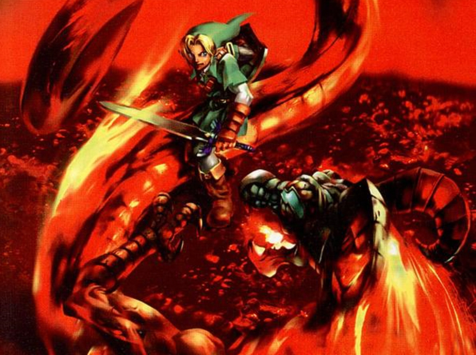 Ocarina Of Time 3d Wallpaper Boss Fight Fire Demon Volvagia