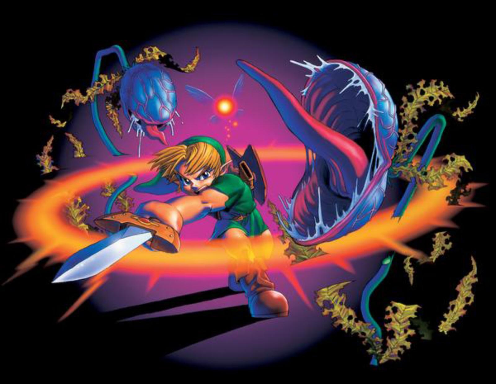 Ocarina Of Time 3d Wallpaper Deku Baba Killing Spin Attack