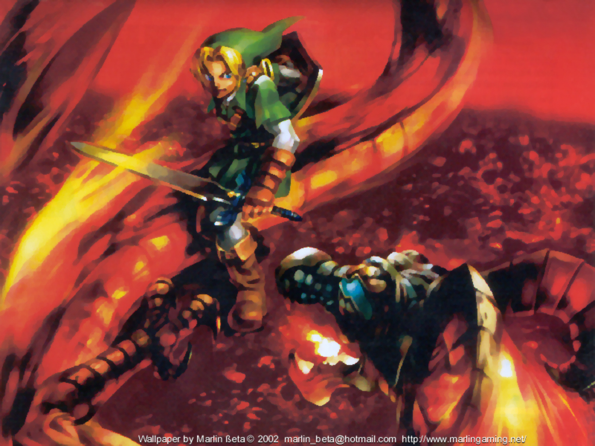 Ocarina Of Time 3d Wallpaper Fire Temple Master