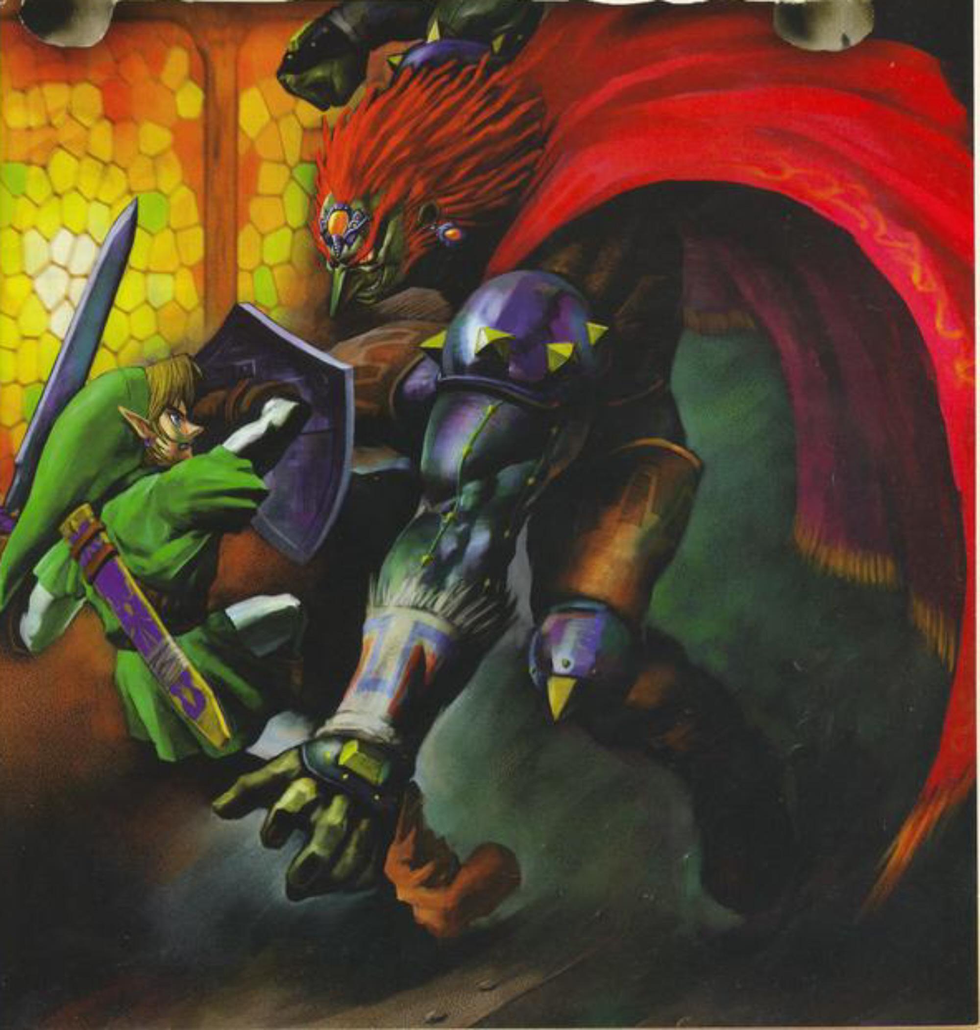 Ocarina Of Time 3d Wallpaper Link Vs Ganondorf