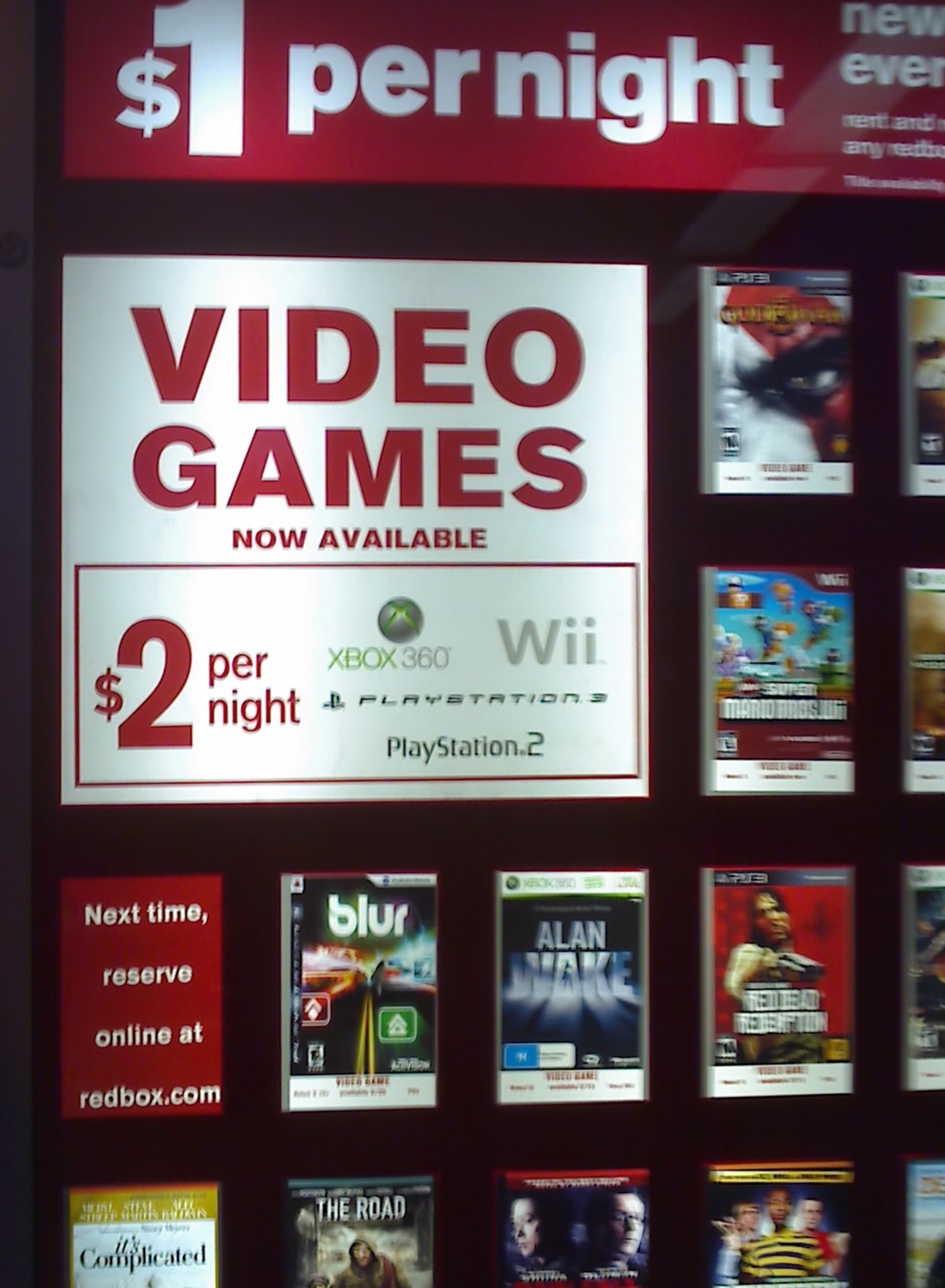 Redbox videogame rentals now available at kiosks or coming ...