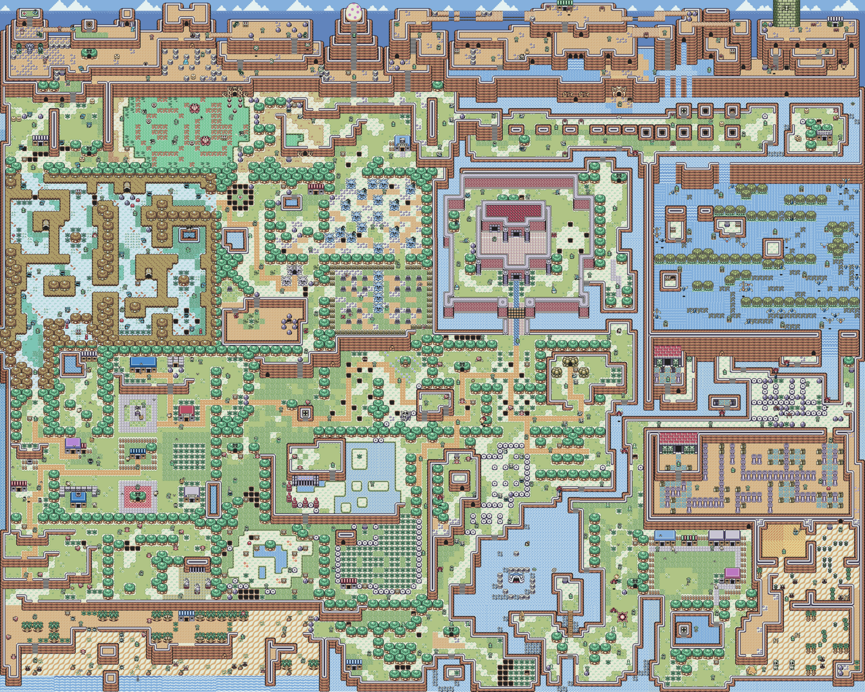 Zelda Links Awakening Overworld Map Complete Image