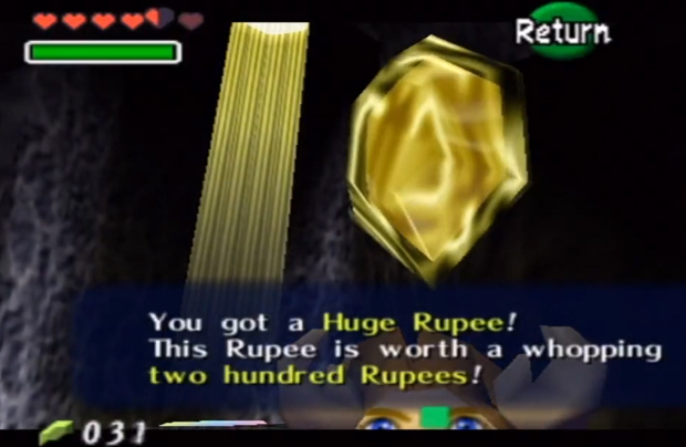 ocarina of time how to get wallet