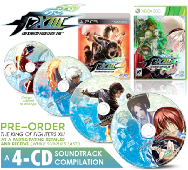 King Of Fighters Xiii Pre Order Goodie Is Series Soundtrack