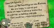 Plants vs Zombies EA love letter by PopCap