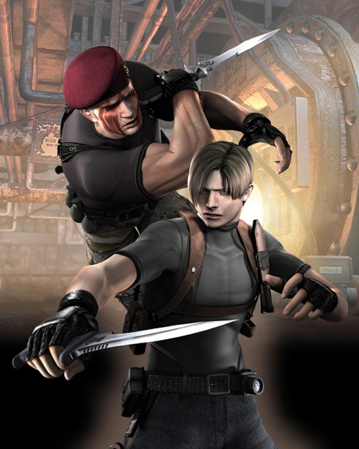 Krauser Vs Leon Resident Evil 4 Artwork Knife Fight Scene