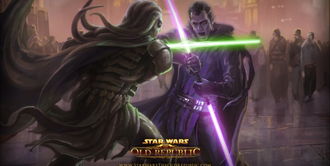 Star Wars: The Old Republic Wallpaper Jedi Sith Duel