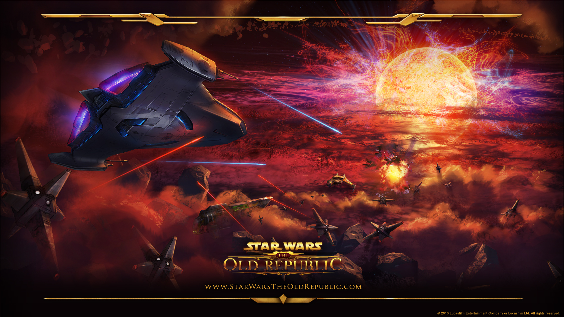 Star Wars The Old Republic Wallpaper Space Battle