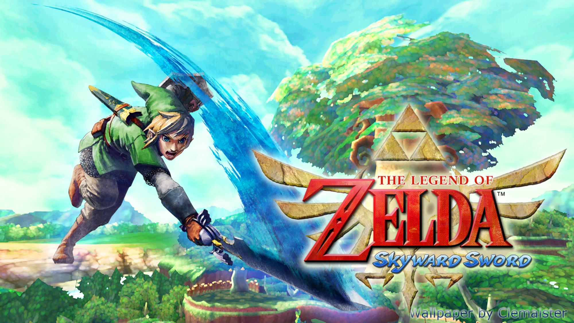 Zelda: Skyward Sword Wallpaper Forest Strike By Clemaister