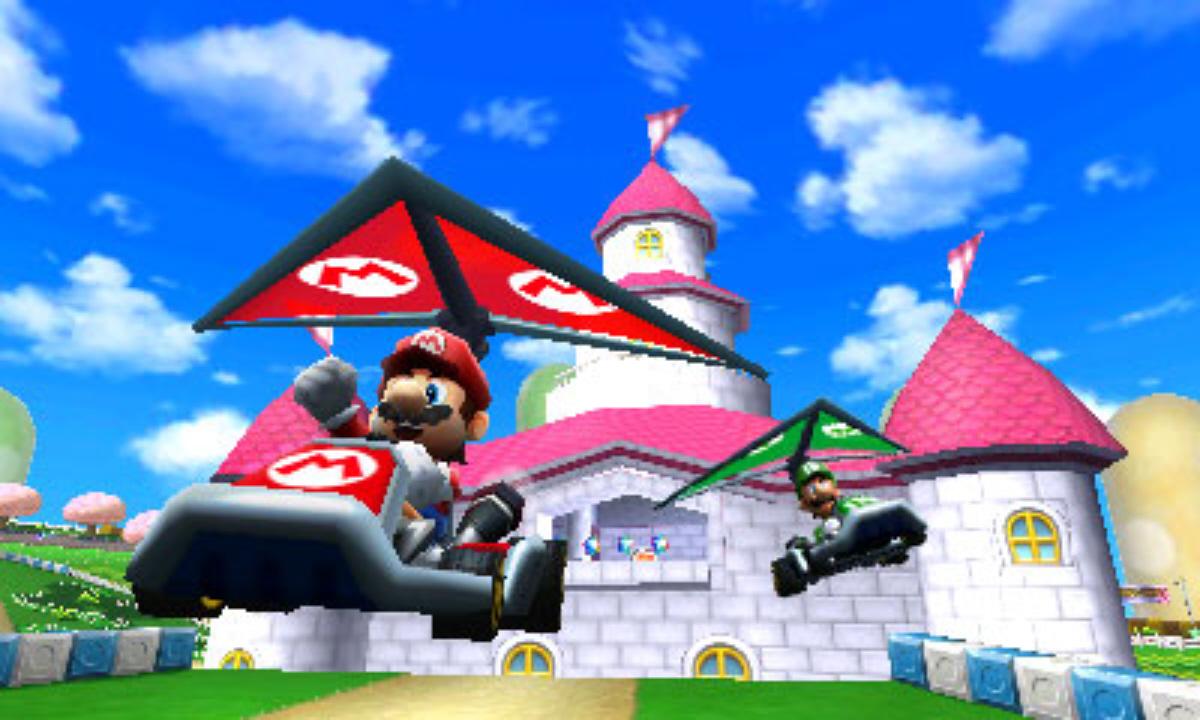 Mario Kart 7 Peach Castle Screenshot