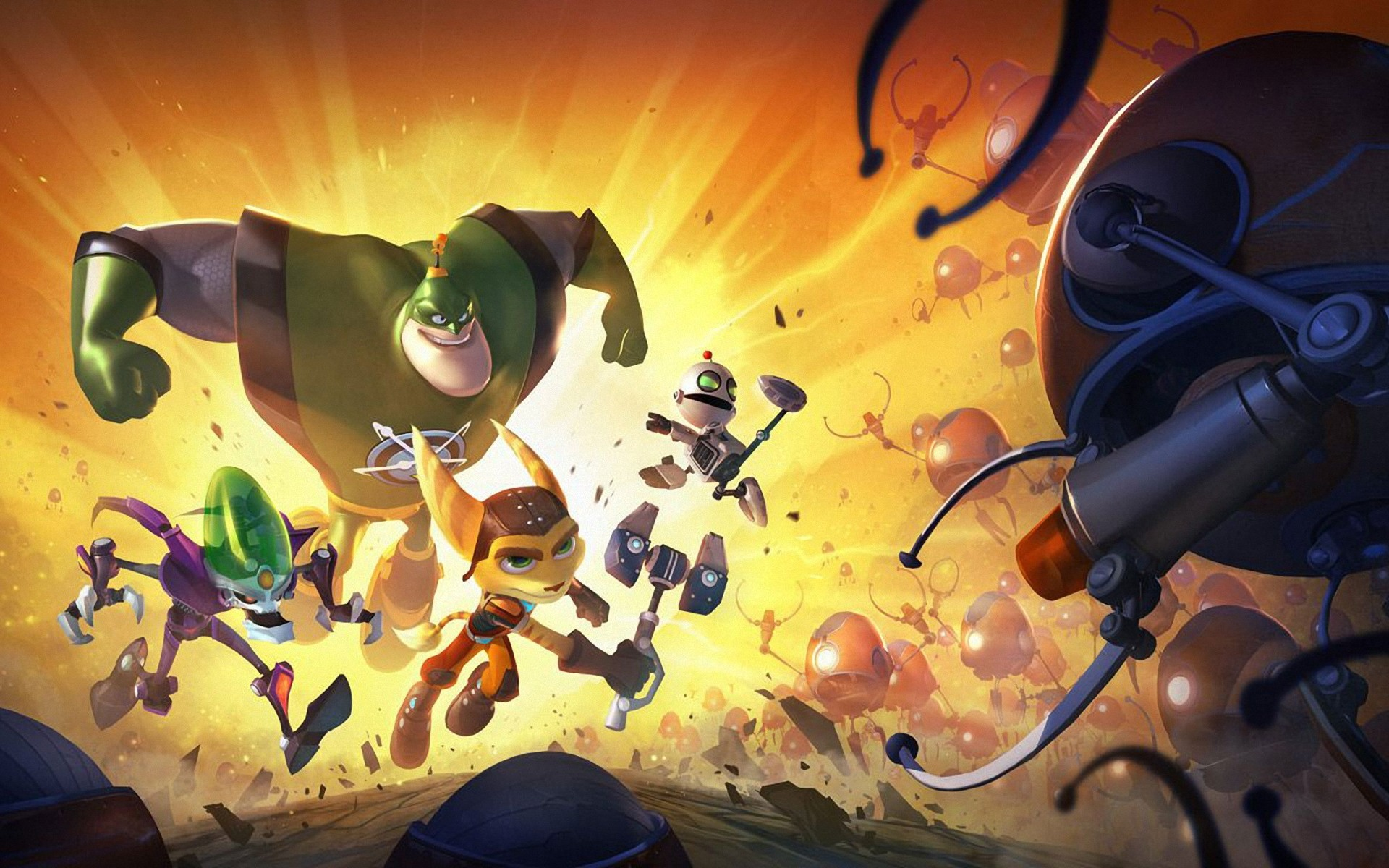 Ratchet Clank All 4 Characters Wallpaper