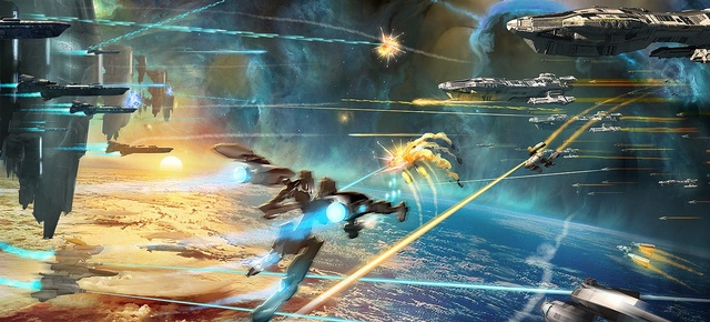 Strike Suit Zero Screenshot of Mech-Shooter Gameplay