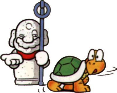 Tanooki Mario as Statue Mario (Super Mario Bros. 3)