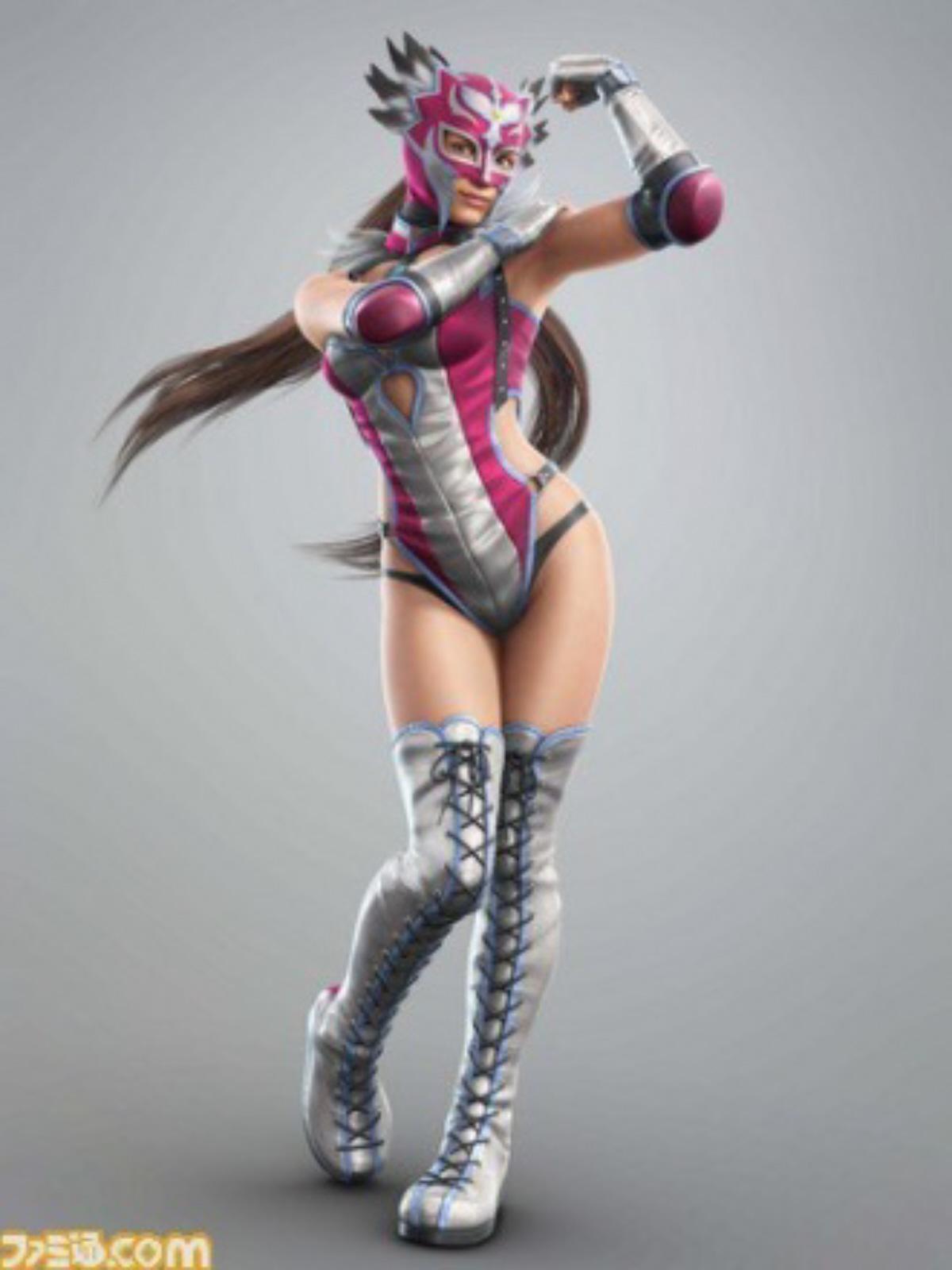 Tekken Tag Tournament 2 Sexy Jaycee Julia Chang In Luchadora Disguise Character Artwork