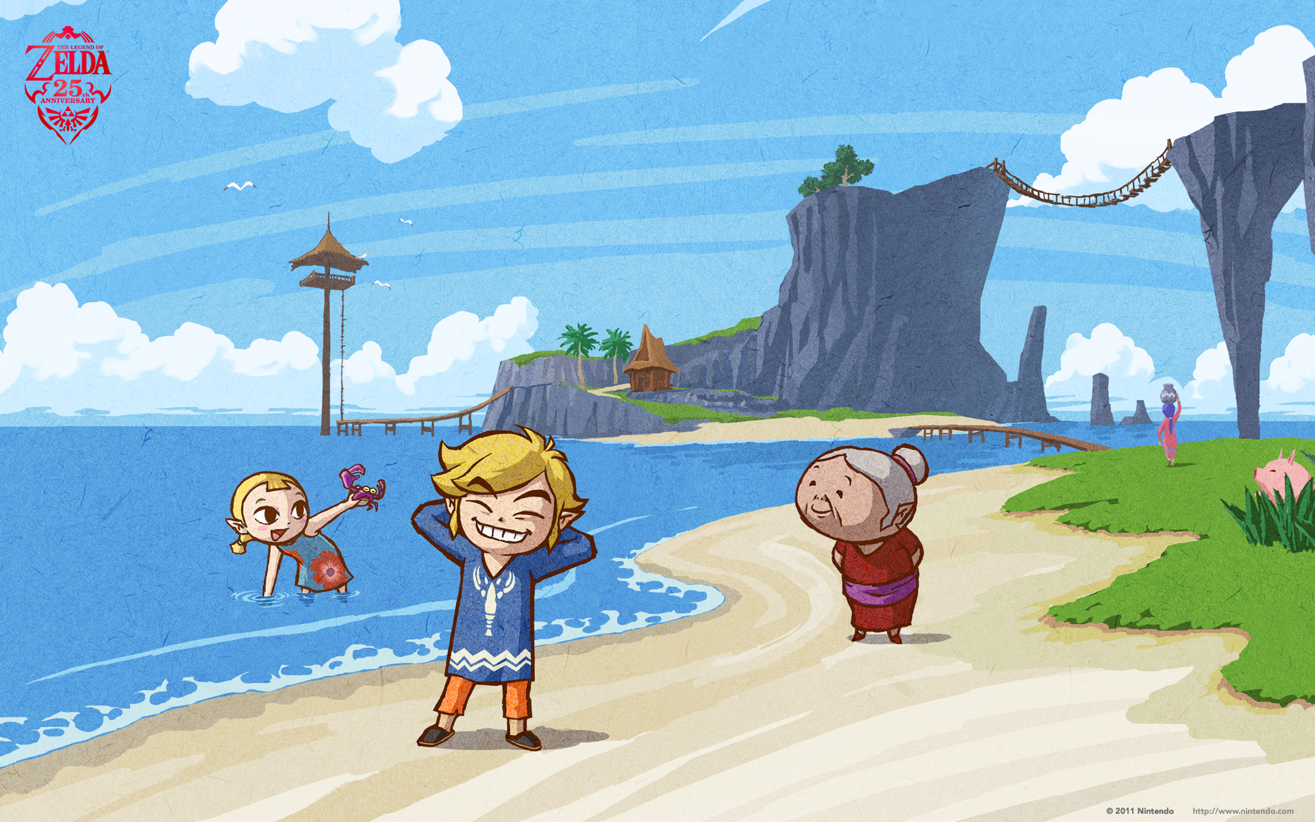 The Legend Of Zelda Wallpaper The Wind Waker Link S Sis And