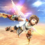 Kid Icarus: Uprising Screenshot of Pit Soaring Through the Clouds