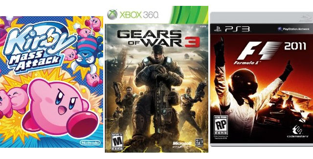 New Video Game Releases of Week 38 in 2011